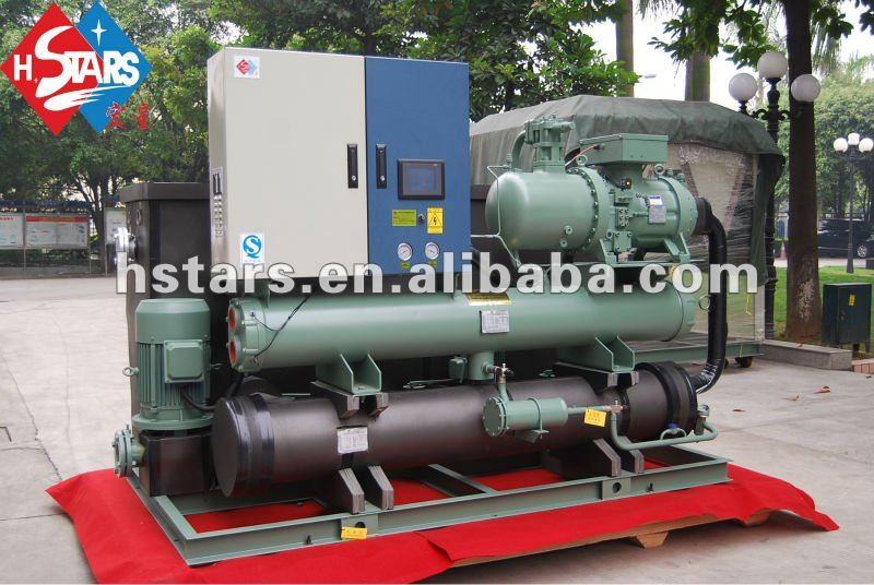 screw industrial water cooled chiller