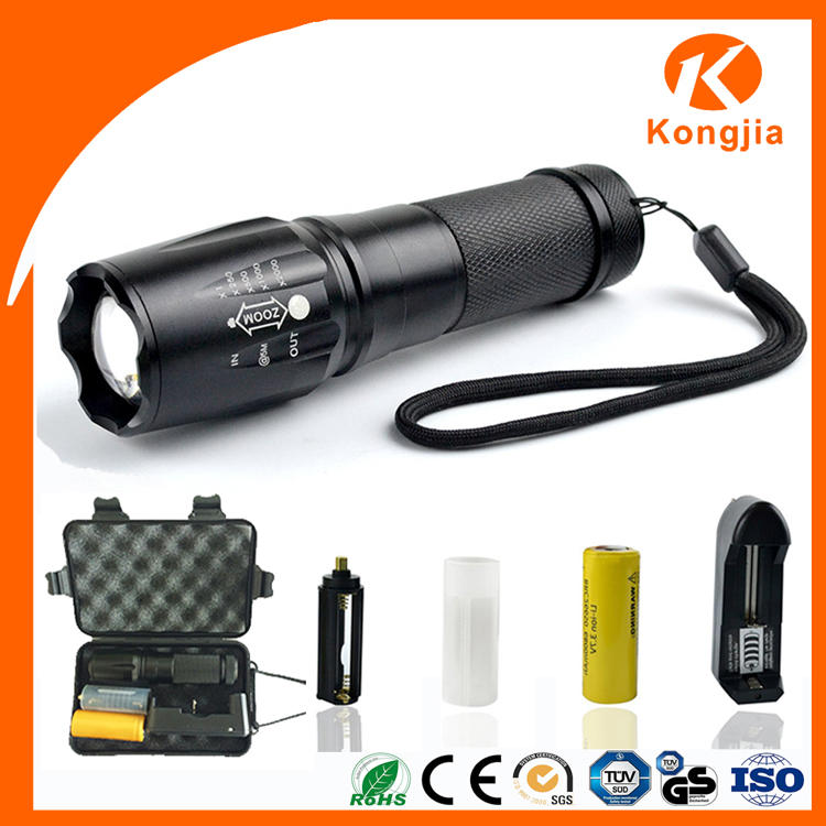 Wholesale Aluminium Waterproof 26650 Rechargeable 10W Ultra Bright High Lumen Tacticle Flashlight Led Tactical Led Flashlight