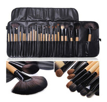 24Pcs Professional Set Brush Cosmetic Kit Case Black For Bobbi Brown Makeup