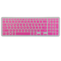 New Product for Dell Silicone Keyboard Cover, Laptop Keyboard Cover for Dell i5558(Hot Pink)
