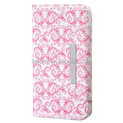 Image Wallet Book PU Leather Pouch Card Case Cover for Samsung S5