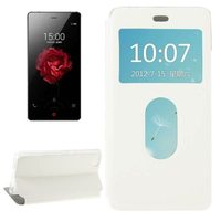 New Coming Leather Case for ZTE nubia Z9 mini Case with Call Display ID