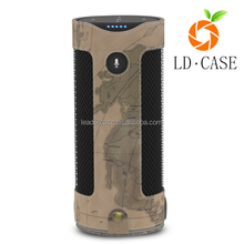 Portable nice quaility Leather case Bluetooth Speaker Case Waterproof Cover for Amazon Echo Shockproof Shell