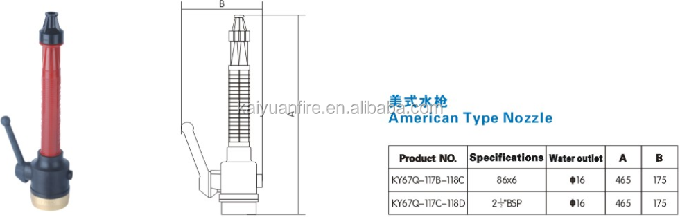 Fire hose pipe nozzle buy