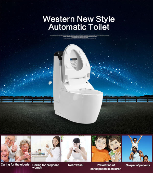 Bathroom automatic washer toilet seat Floor Mounted Wc Toilet intelligent toilet