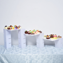 Customized shape and tiers clear acrylic bread cake display stand