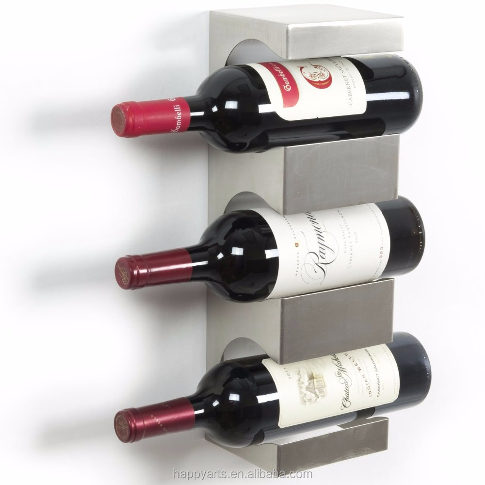 Stainless Steel Wine Bottle Holder Rack with Top Shelf Section