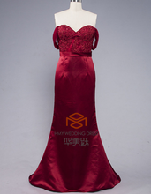 Suzhou Dress Factory Direct Supply HMY-D560 Burgundy Sweetheart Dubai Designers Wholesale Evening Dresses