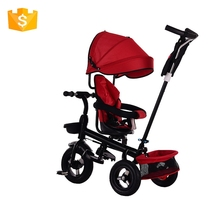 High quality metal frame child tricycle for kids with rubber wheel