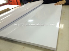 printable black/white matt rigid pvc sheet for colock surface