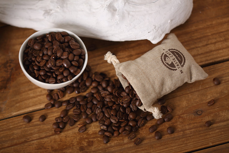 Linen customized print personalize coffee packaging drawstring pouch bag