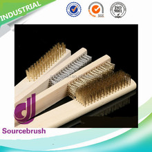 Handmade wooden furniture polish processing steel brush with handle