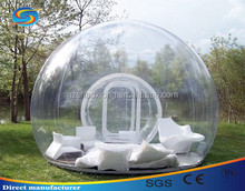 Popular transparent inflatale tent inflatable bubble camping tent clear dome tent