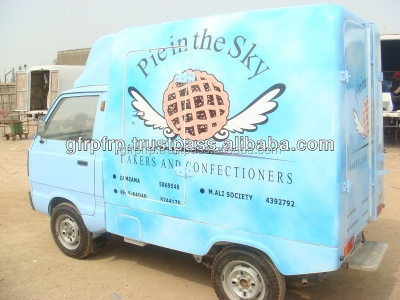 Fiberglass pick up body/hood Insulated