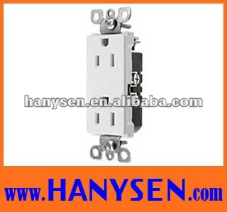 American style 2 Pole 3 Wire duplex receptacle
