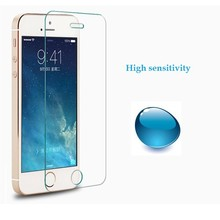 Japan tempered glass material screen protector with design packaging ,for iPhone 5 clear screen protector