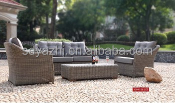 Lounge Set Round Outdoor Pe Rattan Sofa