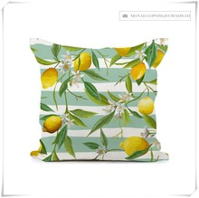 Decorative Waterproof 100%Polyester Square Printed Cushion Cover