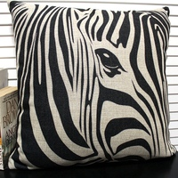 Hot Sale Cool Abstract Zebra Pattern Decorative Pillow Case Home Decor Throw Covers Indian Sofa Covers