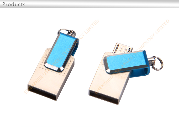 Factory wholesale hot selling metal swivel smartphone USB flash drives