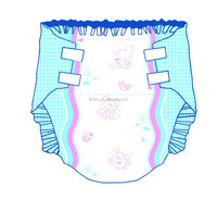 best selling new high quality super absorption baby printed adult diaper