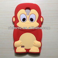 For Samsung Galaxy i9300 3D Animal Case, Red Monkey Soft Silicone Case