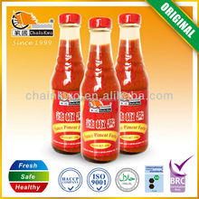 high quality glass bottled chili sauce