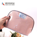 Personalized Pink PU Leather Cosmetic Bag Supplier
