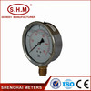 liquid filled economy type high temp pressure gauge