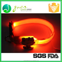 China Professional Manufacturer LED flashing dog collar for Christmas, leather dog collar dog training collar