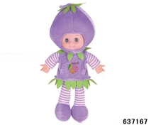 Hot sale fruit doll life size plush baby doll 16 inch with intelligent voice