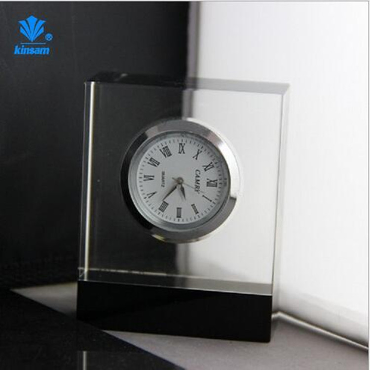 Wholesale price crystal table square clock for home decoration