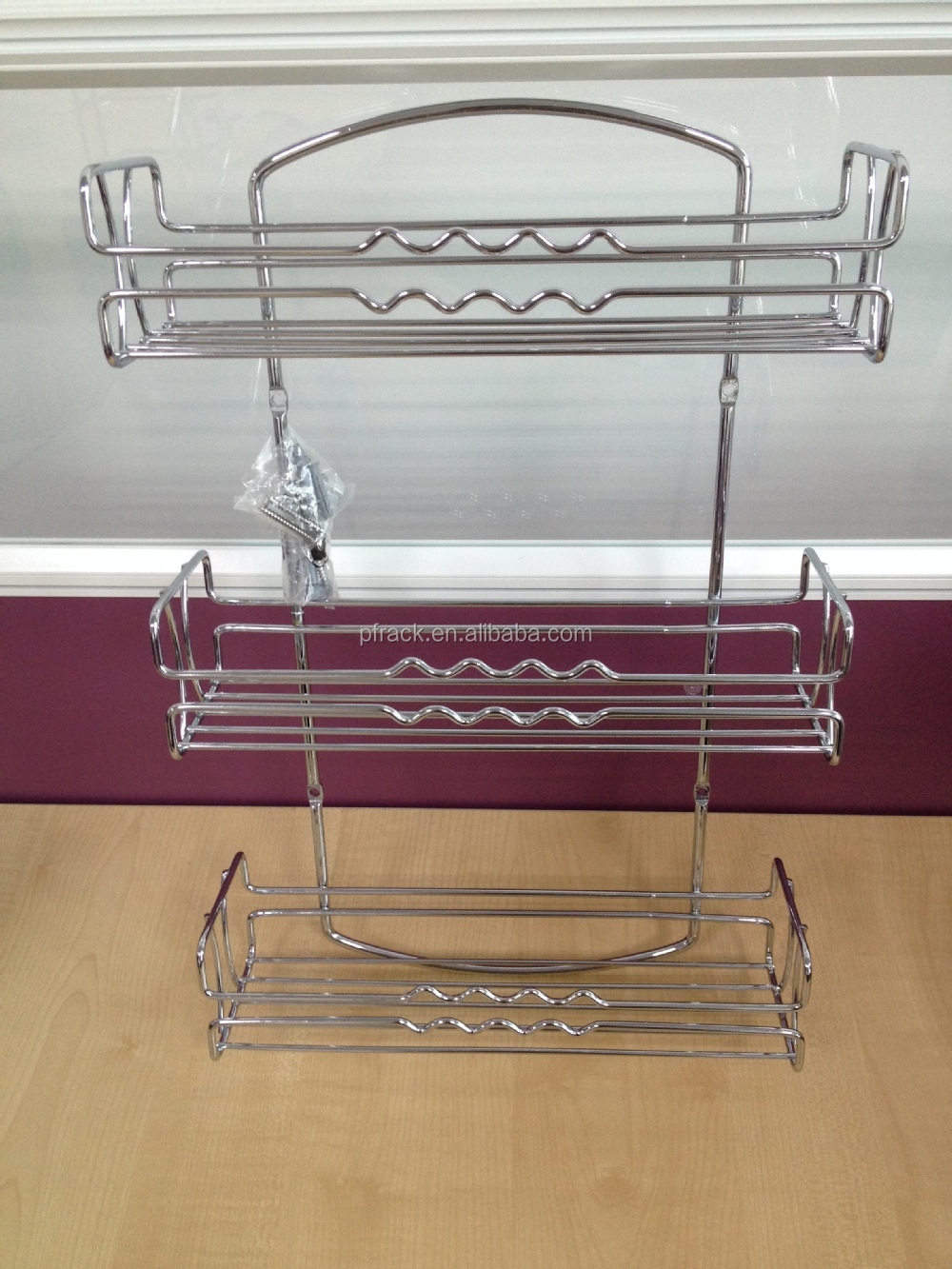 PF-KR0005 HOT SALE!! stainless steel kitchen spice rack