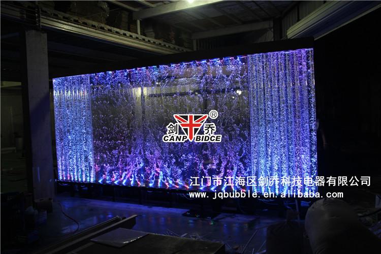 Acrylic sheet large aquarium tanks bubble wall feature interior design and  decoration