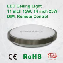 Aluninum PMMA round shape microwave sensor surface mounted led pop ceiling light