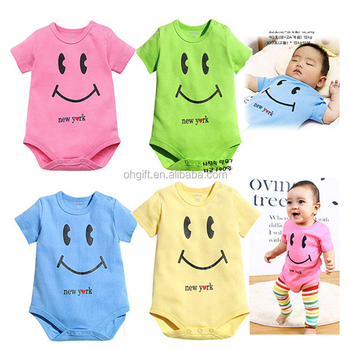 2017 Summer Baby Clothes Smile Cotton Cheap Baby Romper /Baby Toddler Clothing