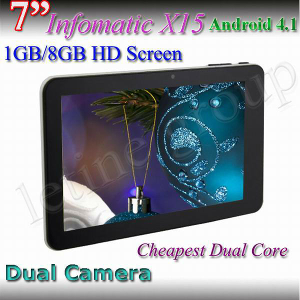 New Cheappest Dual Core 7inch Tablet PC INFOTMIC Dual Core iMAPx15 CortexA5 1.5GHz OEM ODM Tablet HDMI Touch Screen Laptop