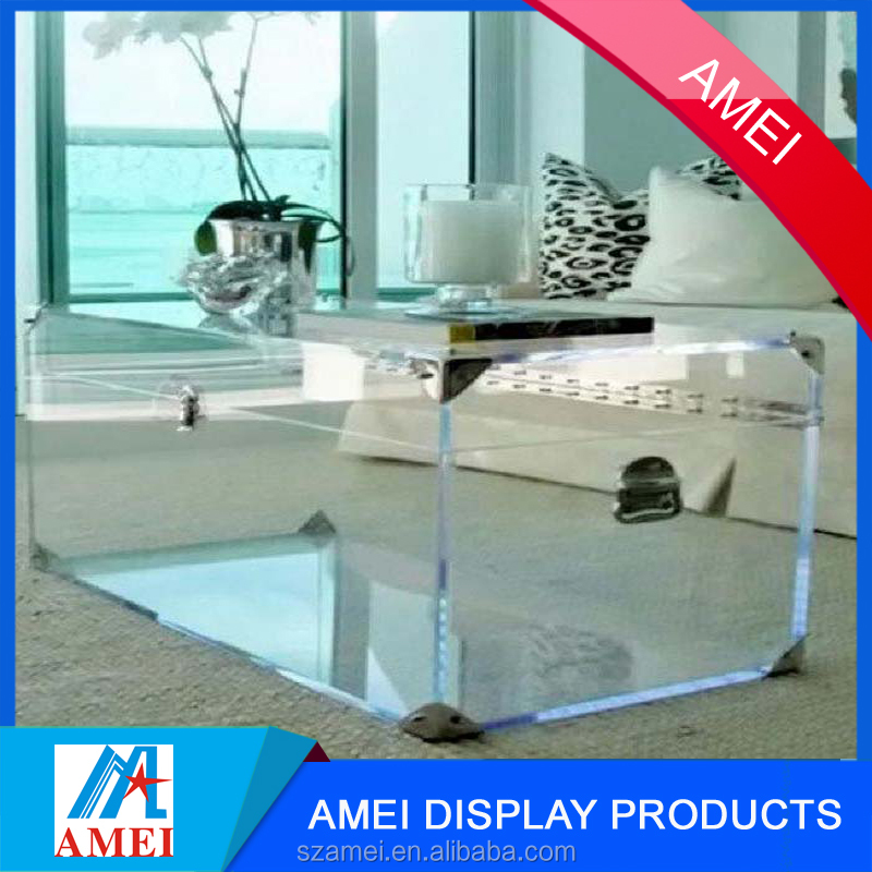 2017 clear wholesale acrylic trunk table
