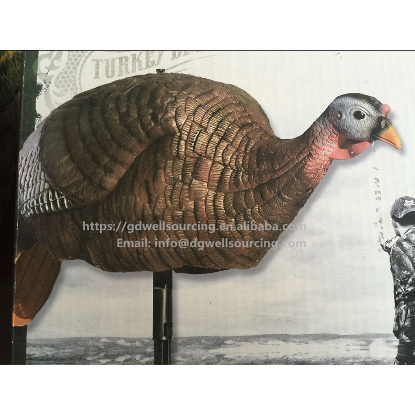 High Quality Plastic Turkey Decoy Decoration