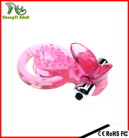 Powerful g-spot vibrating cock ring Tongue-shaped vibrating silicone cock ring magic cock ring