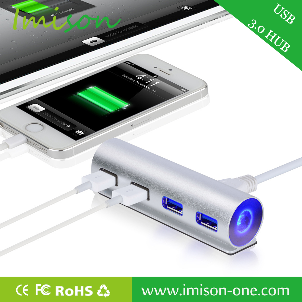 Accept OEM Mini Cute USB Hub 4 Port 3.0 Hub