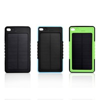 New innovation technology product solar power bank 6000mah
