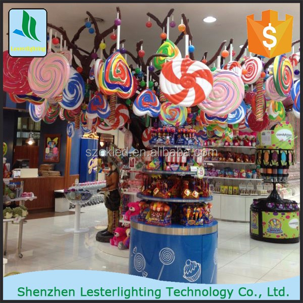 Hot selling! Any size and color Lollipop fiberglass decoration