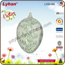 Easter home decorative traditional glass hand painted egg for Easter occasion decoration