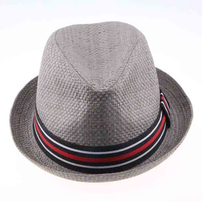 353ccb7acb5 2015 Fashion Men Women Panama Straw Hat With Striped Ribbon For Decoration  Summer Autumn Casual Headwear