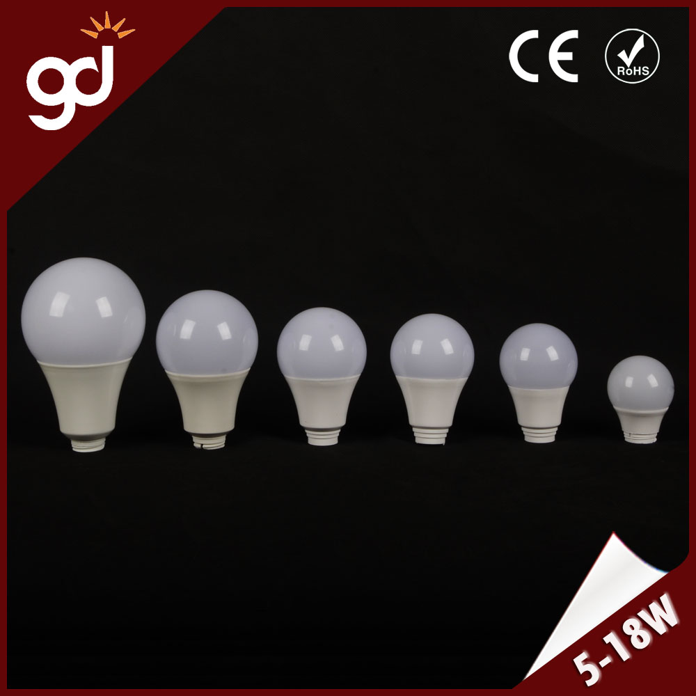 wholesale china SKD or CKD A60 led bulb light E27 base aluminum housing