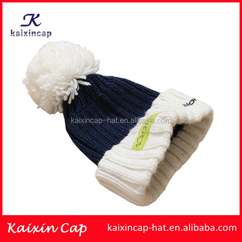 custom fashion high quality cheap winter warm acrylic printting beanie caps knitted hats wholesale