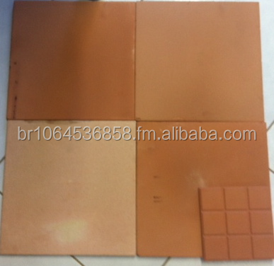 Ceramic Terracotta Floor Tile Red Natural 410x410x12 mm