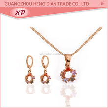 2015 New fashion dulhan wedding necklace and earring sets cheap charm jewelry for young womens
