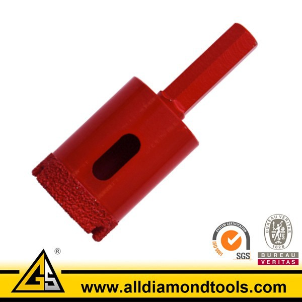 vacuum brazed diamond core drill for ceramic tile porcelain